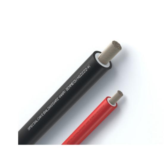Coppia di cavi unipolari 6 mmq rosso/nero