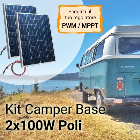 Kit Solare Camper 200W Poli Plus Base