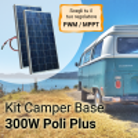 Kit Solare Camper 300W Poli Plus Base