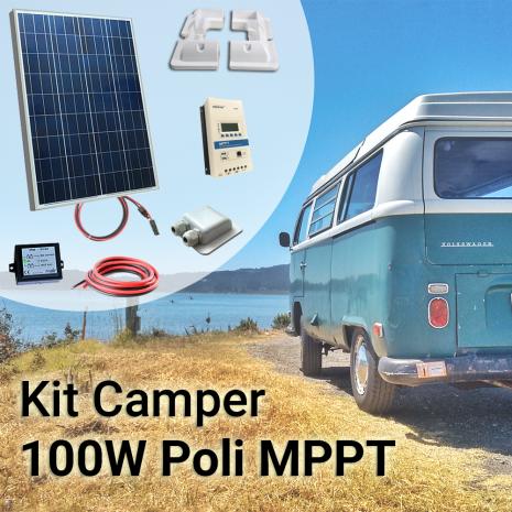 Kit Solare Camper 100W con Regolatore MPPT