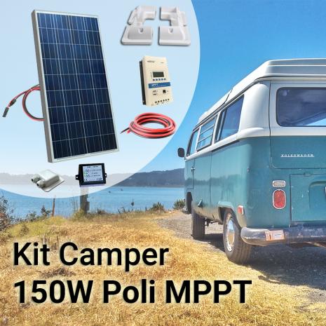 Kit Solare Camper 150W con regolatore MPPT