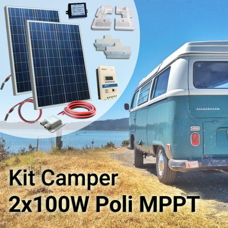 Kit Solare Camper 200W Poli Plus con MPPT