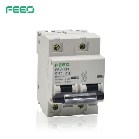 Interruttore bipolare automatico magnetotermico 125A per DC 550VDC