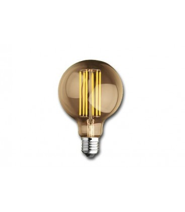 Gold Vintage Globe Filament Led Lamp 6W