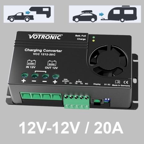 Booster di carica 20A Votronic per batterie AGM, GEL, LiFePo4