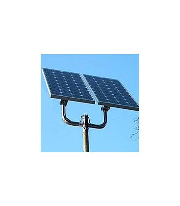 Double support arm to mount on poles 2 PV panels from 40W up to 100W
