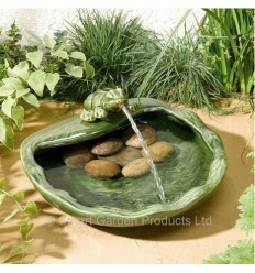 More about Ceramic solar fountain with frog