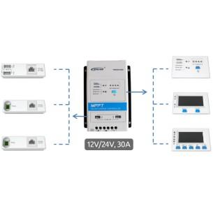 EpSolar controller MPPT 12/24V - 10A  DisplayTriron-DS2 InterfacciaTriron-UCS