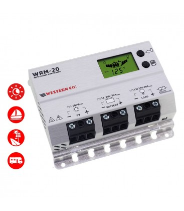 Charge controller 20A-12/24V Western MPPT