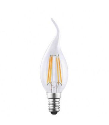 Filament flame led bulb 450 lumen - 4W/E14