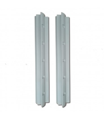 Aerodynamic pair of brackets for panel stand