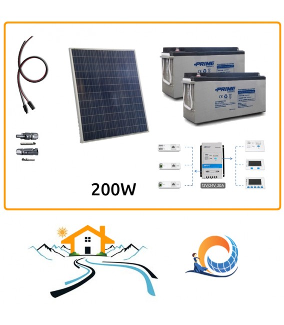 Kit fotovoltaico Weekend 1,8 kWh a Isola