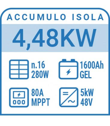 Kit a isola 4,48kW con accumulo AGM